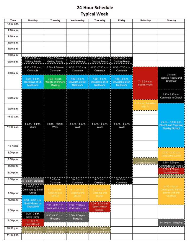 24 Hour Schedule