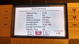Thursday's a.m. walking/jogging intervals